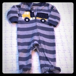 Truck Zip-Up Fleece Sleep & Play 3 M
